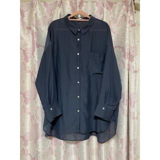 ショコラフィネローブ(chocol raffine robe)のブラウス ネイビー フリーサイズ(シャツ/ブラウス(長袖/七分))