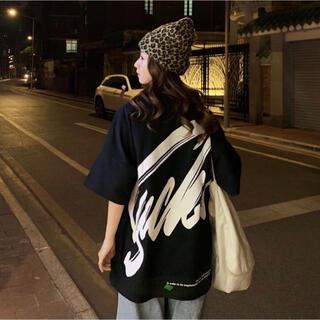 ラスト1★ビッグロゴ Tシャツ オーバーサイズ ビッグシルエット 派手 韓国