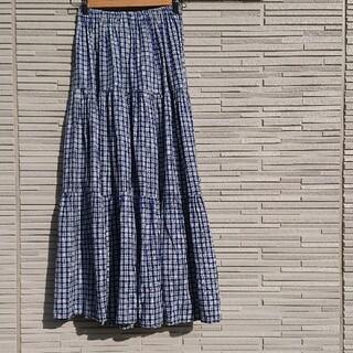 ロキエ(Lochie)の【送料無料・70'S・Vintage】CHECK LONG SKIRT(ロングスカート)