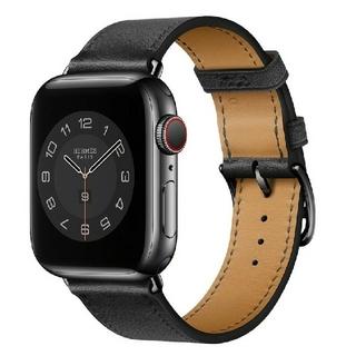 Apple Watch レザー バンド 42/44mm オールブラック