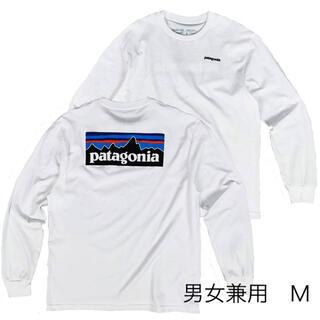 パタゴニア(patagonia)のパタゴニア長袖 ロンT 白 M ベストセラー アウトドア キャンプ スノボー(Tシャツ(長袖/七分))