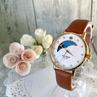 kate spade new york - 【動作OK】Kate spade ケイトスペード 腕時計 ムーンフェイズ