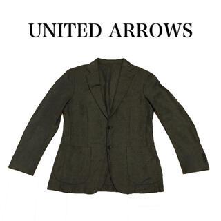 ユナイテッドアローズ(UNITED ARROWS)のユナイテッドアローズ シルク混コットンジャケット ライニング無し 日本製(テーラードジャケット)