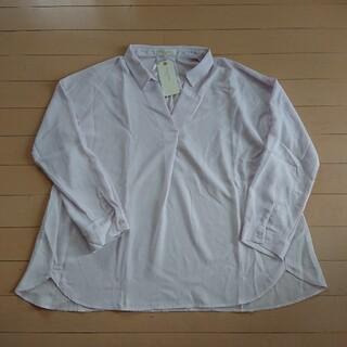 ショコラフィネローブ(chocol raffine robe)のchocol raffne robe スキッパーシャツ ライラック フリーサイズ(シャツ/ブラウス(長袖/七分))