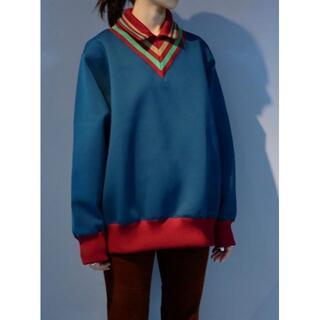 kolor - kolor T01201 ダンボールニット プルオーバーシャツ