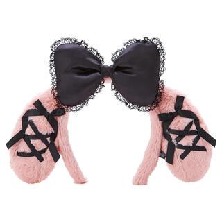 マイメロディ - マイメロディ カチューシャ 真夜中のメロクロ うさ耳 仮装 ピンク ハロウィン