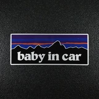 【ステッカータイプ】BABY IN CARパタゴニア チャイルドシート