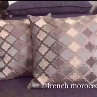【再販】モロッカン柄 クッションカバー2枚 フランフラン ザラホーム系モロッコ柄