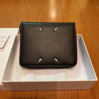 Maison Martin Margiela - メゾンマルジェラ ラウンドジップ折り財布 ブラック レザー 新品未使用