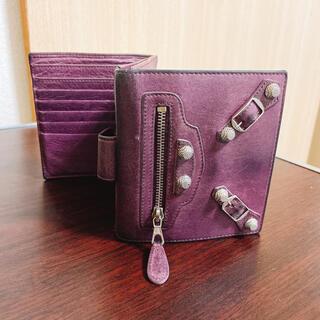 バレンシアガ(Balenciaga)のバレンシアガ 二つ折り財布 ピンクレザー (財布)