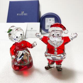 SWAROVSKI - スワロフスキー 置物 サンタクロースと奥様 クリスマス スワロフスキー