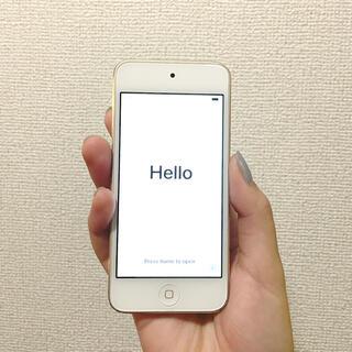 アイポッドタッチ(iPod touch)のiPod touch 第6世代 ゴールド 32G アイポッドタッチ(ポータブルプレーヤー)