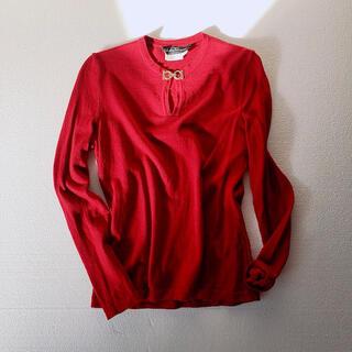 サルヴァトーレフェラガモ(Salvatore Ferragamo)のSalvatore Ferragamo セーター ガンチーニ ウール レッド(ニット/セーター)