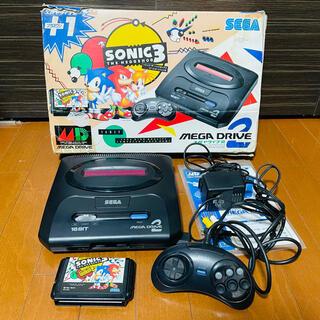 セガ(SEGA)のSEGA MEGA DRIVE2 SONIC3 +1セット(家庭用ゲーム機本体)