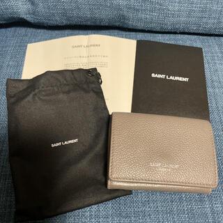 サンローラン(Saint Laurent)のSAINTLAURENT 財布 グレー(財布)