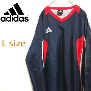 アディダス(adidas)のadidas アディダス 3色カラー  ゲームシャツ ビッグ ナイロンジャケット(ナイロンジャケット)