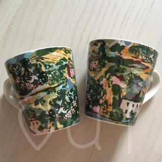 キャスキッドソン(Cath Kidston)のアーティストビュー キャスキッドソン マグカップ 2個 ミニスタンリー ペア(グラス/カップ)