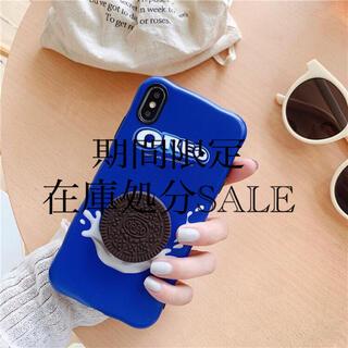 iPhoneケース オレオ ポップソケッツ 立体 3D お菓子 クッキー