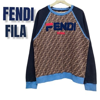 FENDI - フェンディ トレーナー フィラ レア ズッカ柄 ブラック 黒 L  FENDI