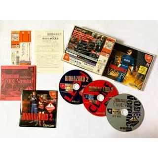 セガ(SEGA)のドリームキャスト バイオハザード2 バリュープラス 帯ハガキ Dreamcast(家庭用ゲームソフト)