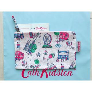 キャスキッドソン(Cath Kidston)の【新品未使用】キャスキッドソン ジップパース スモールロンドンスポット(ポーチ)