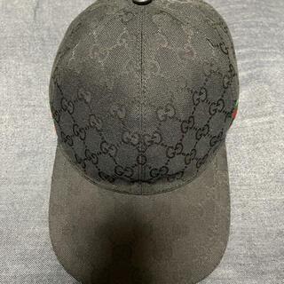 Gucci - GUCCI キャップ グッチ 帽子 黒 正規品