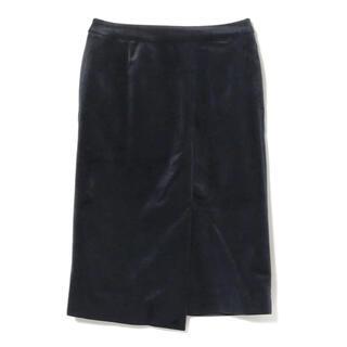 ビームス(BEAMS)のBEAMS ベロアアシメタイトSK(ひざ丈スカート)