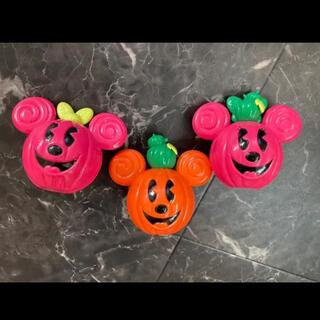 ディズニー(Disney)の美品 ミッキーミニー ハロウィン お菓子入れ 置物(キャラクターグッズ)