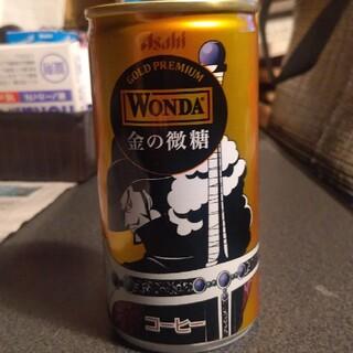 アサヒ(アサヒ)のワンピースコラボWANDA金の微糖 空き缶(キャラクターグッズ)