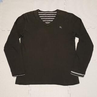 バーバリー(BURBERRY)のBURBERRY リバーシブル 刺繍ワンポイントロゴ 長袖Tシャツ(Tシャツ/カットソー(七分/長袖))