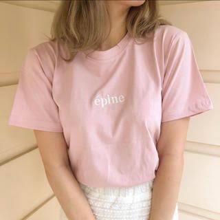 エピヌepine embroidery tee baby pink