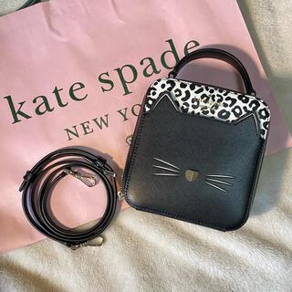 kate spade new york - ケイトスペード ショルダーバッグ ハンドバッグ ブラック キャット 猫