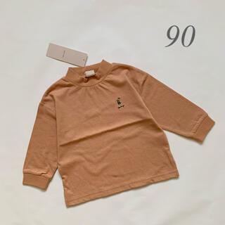 petit main - 新品 petit main プティマイン 長袖 ボトルネックTシャツ 90
