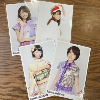 ノギザカフォーティーシックス(乃木坂46)の乃木坂46 橋本奈々未 ポストカード 4枚セット(女性アイドル)