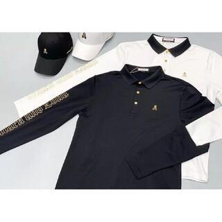 マークアンドロナ(MARK&LONA)の【MARK&LONA】ゴルフシャツ長袖 黒S(ウエア)