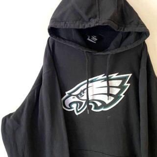 NFL TEAM APPARELワシ刺繍スウェットパーカーブラック黒 古着