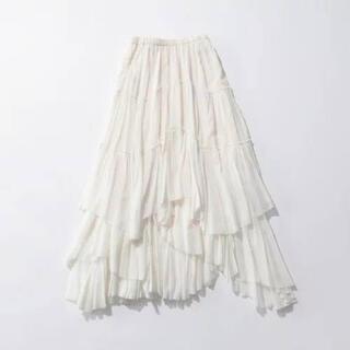 IENA - 新品未使用 Casa fline コットンティアードスカート ホワイト
