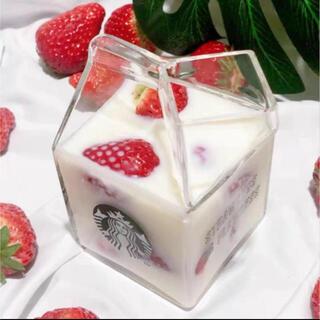 スターバックスコーヒー(Starbucks Coffee)のスタバ 海外限定 牛乳パック タンブラー 透明ガラス インスタ映え♡(タンブラー)