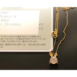 STAR JEWELRY - K10 ネックレス RABBIT NECKLACE