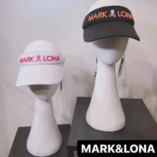 マークアンドロナ(MARK&LONA)の韓国【MARK&LONA】 リボン付き サンバイザー レディース ゴルフ用品QK(ウエア)