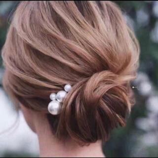 ヘアピン パール 髪飾り ウェディング ウェディングフォト