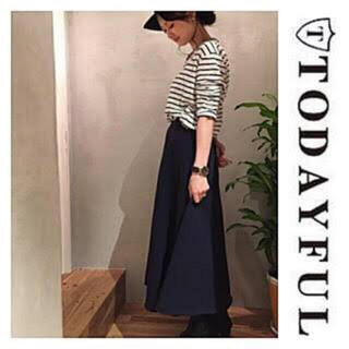 トゥデイフル(TODAYFUL)のTODAYFUL スウェットスカート新品タグ付き(ロングスカート)