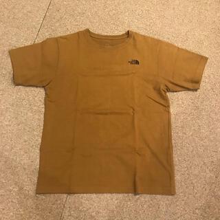 THE NORTH FACE - ノースフェイス Tシャツ ロゴプリント 黄土色