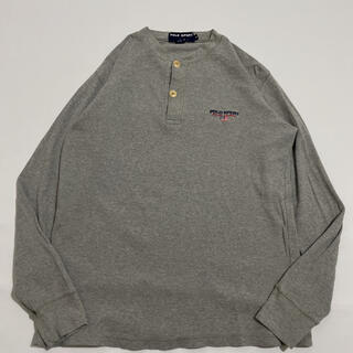 ポロラルフローレン(POLO RALPH LAUREN)の90s 古着 polosport ヘンリーネック ワッフル ロンT (Tシャツ/カットソー(七分/長袖))