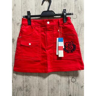 le coq sportif - ルコック 小さいサイズ ポケットいっぱい! 赤 スカート 秋冬 Sサイズ ゴルフ