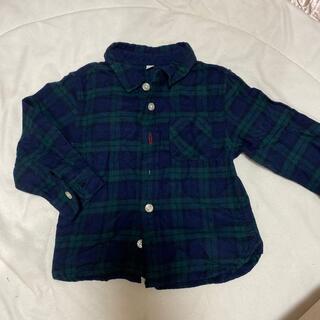 ムジルシリョウヒン(MUJI (無印良品))の無印良品 チェックシャツ 80 男の子 秋冬 ベビー(シャツ/カットソー)