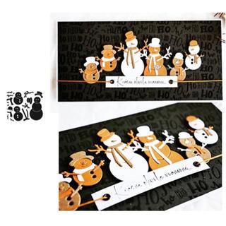 530 カッティングダイ ダイ ダイカット ハンドメイド 雪だるま クリスマス(型紙/パターン)