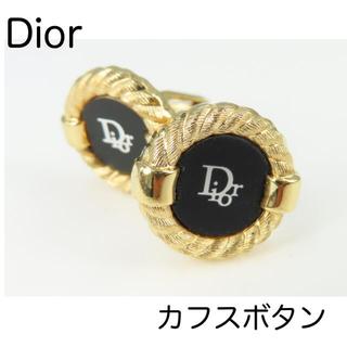 ディオール(Dior)のDIOR クリスチャンディオール カフスボタン 中古 ブラック×ゴールド系(カフリンクス)