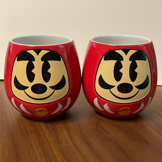 【新品未使用】ディズニー だるま湯飲みセット