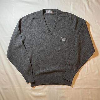 バーバリー(BURBERRY)の90s Burberry's ウールVネックセーター Scotland製(ニット/セーター)